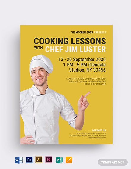 Chef Cooking Lessons Flyer Template