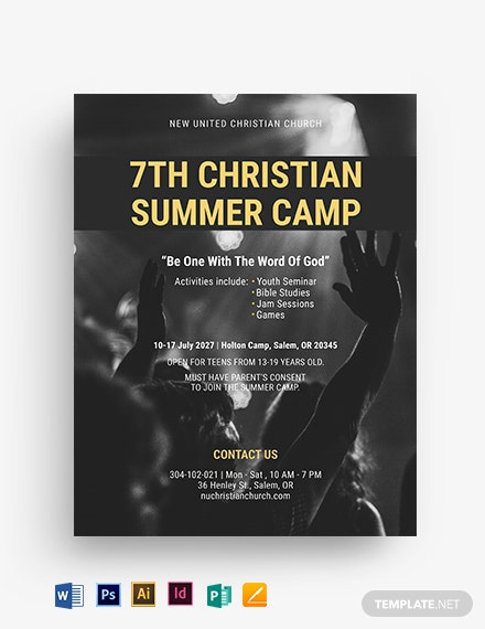 Christian Summer Camp Flyer Template