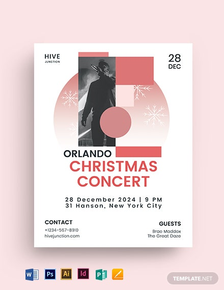 Christmas Concert Flyer Template