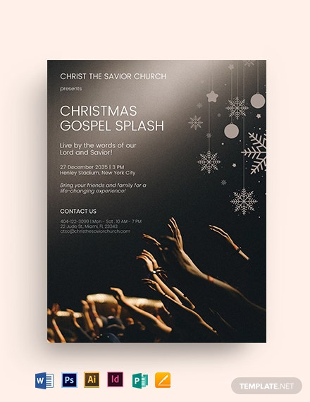 Christmas Gospel Splash Church Flyer Template