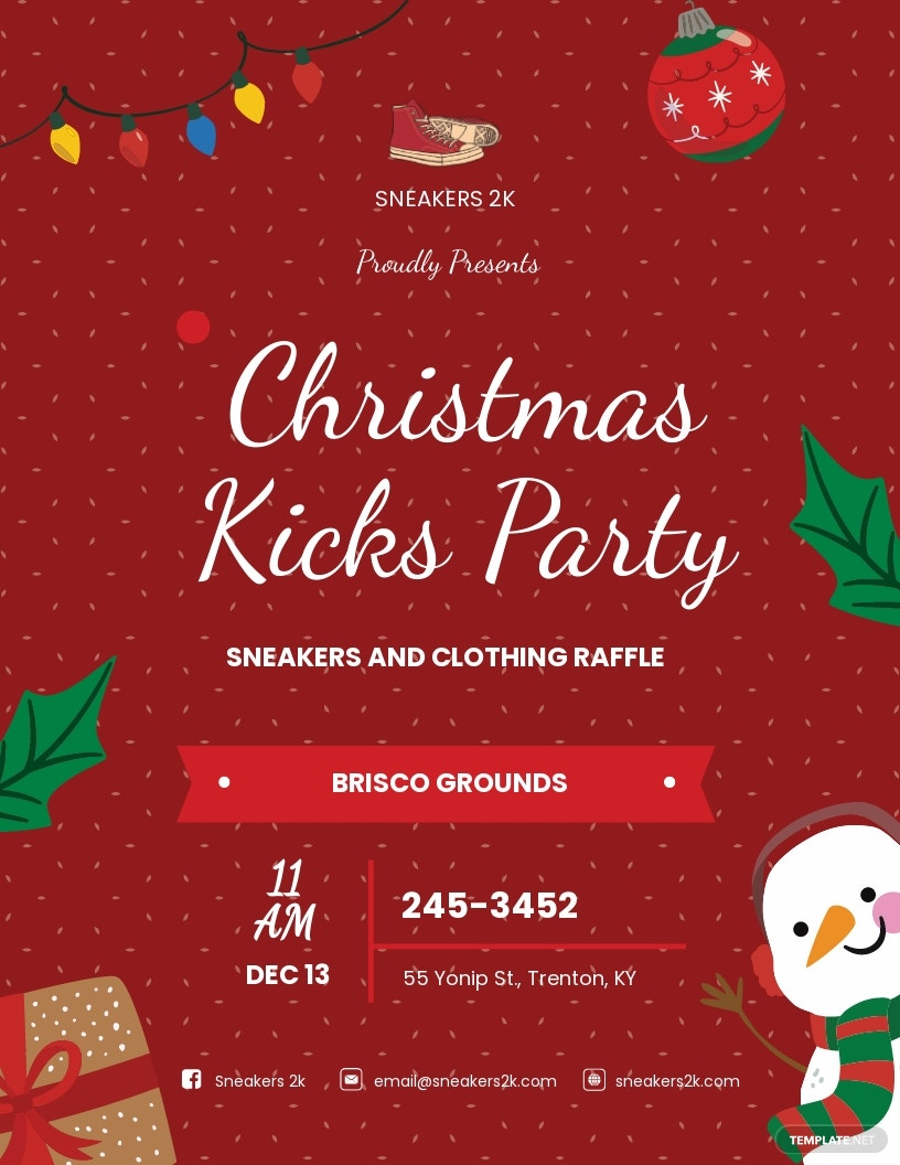 Christmas Kicks Flyer Template