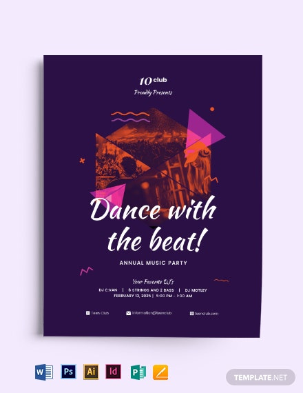 Club Music Party Flyer Template