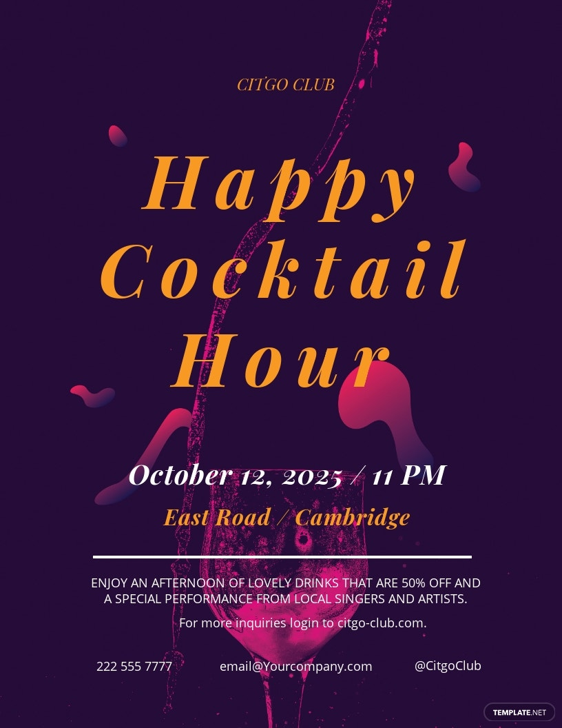 Cocktail Lounge Flyer Template