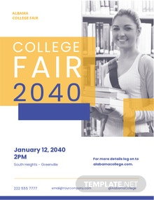 College Fair Flyer Template