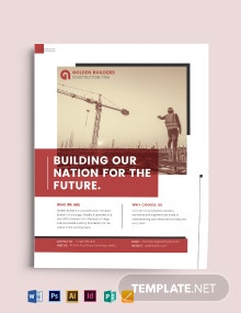 Construction and Building Flyer Template