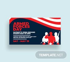 Free Armed Forces Day Facebook Post Template
