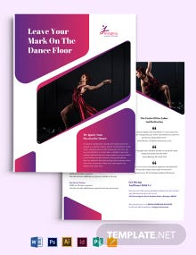 Insignia Dance Studio Flyer Template