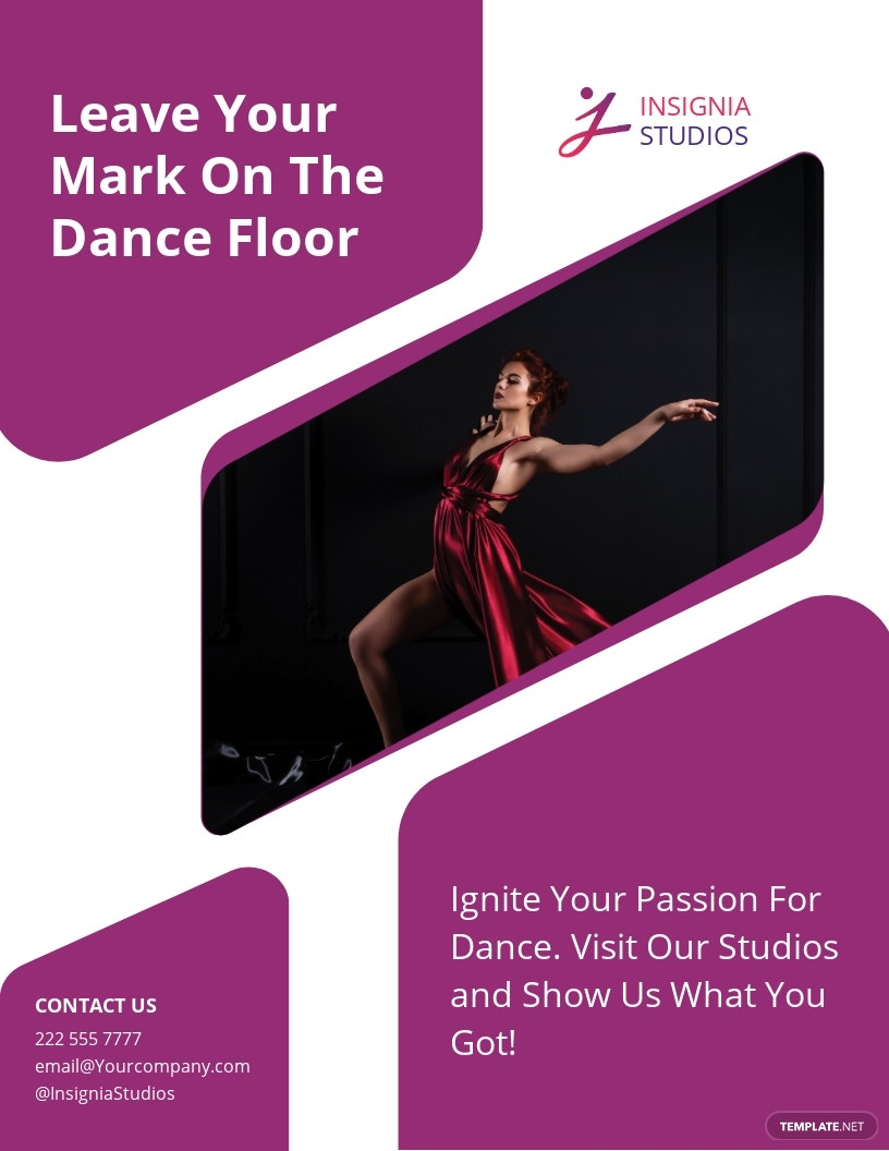 Insignia Dance Studio Flyer Template.jpe