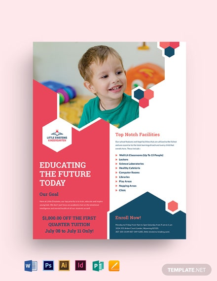 Little Einsteins Kindergarten Flyer Template