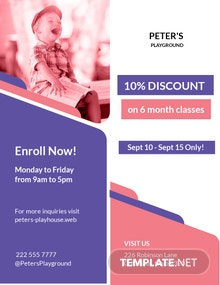 Peter's Playhouse Flyer Template