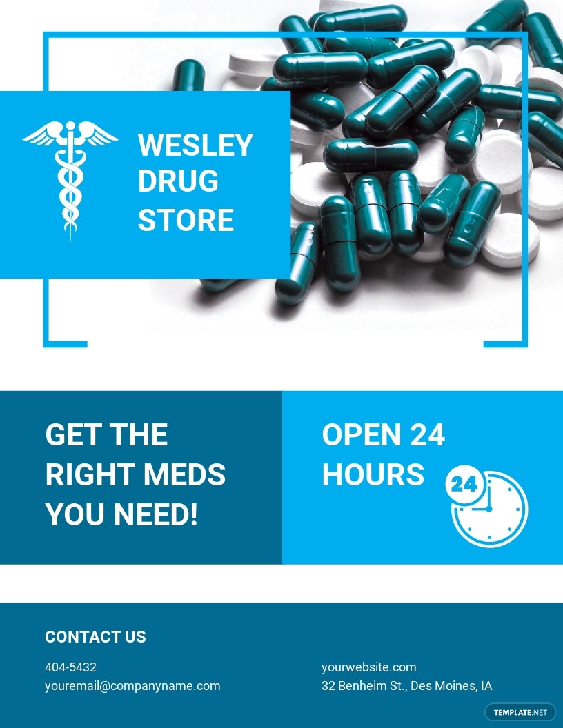 Pharmacy and Drug Store Flyer Template.jpe