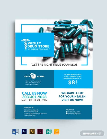 Pharmacy and Drug Store Flyer Template