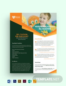 Primrose Preschool Flyer Template