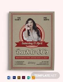 Retro 60 Flyer Template