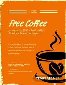 Retro CoffeeShop Flyer Template