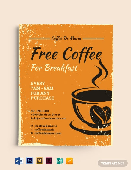 Retro CoffeeShop Flyer Template