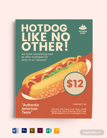 Retro Fast Food Flyer Template