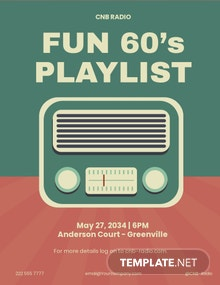 Retro Radio Party Flyer Template