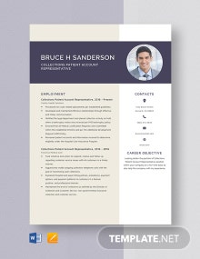 Collections Patient Account Representative Resume Template