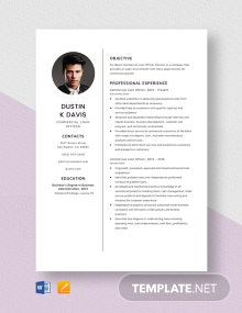 Commercial Loan Officer Resume Template