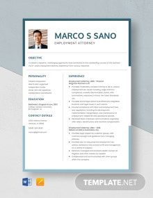 Employment Attorney Resume Template