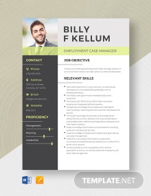 Employment Case Manager Resume Template