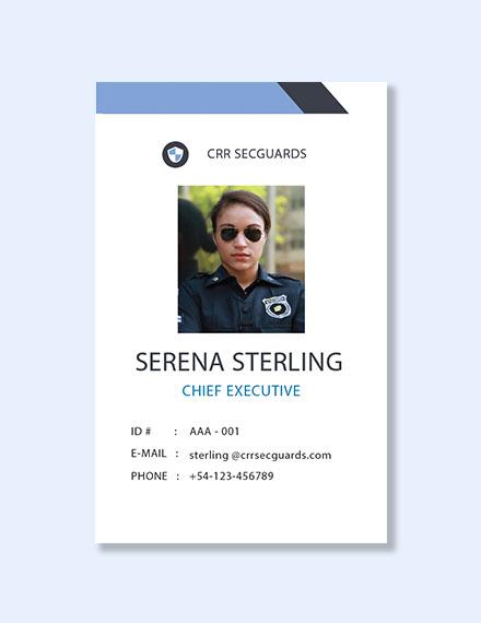 Free Security Guard ID Card