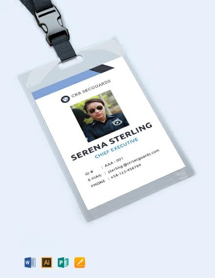 Free Security Guard ID Card Template