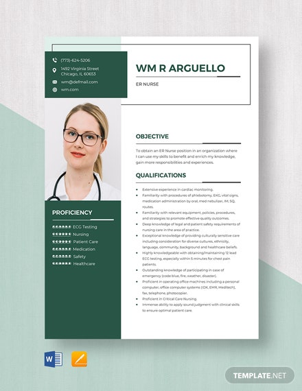 ER Nurse Resume Template