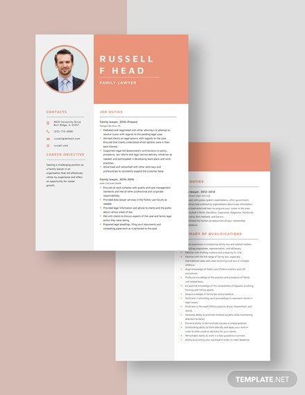 Family Lawyer Resume Download