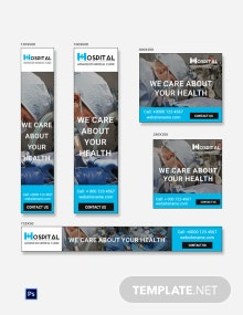 Free Hospital Banner Ads Template