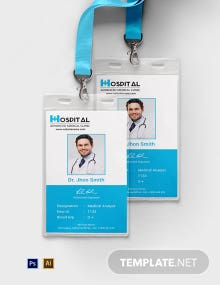 Free Hospital Identity Card Template