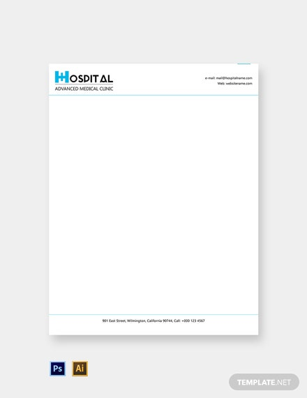 Free Editable Hospital Letterhead Template