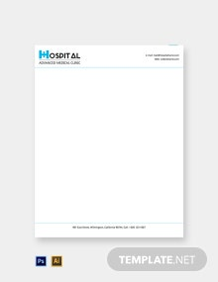 Free Editable Hospital Letterhead Template