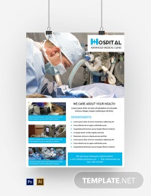Free Hospital Poster Template