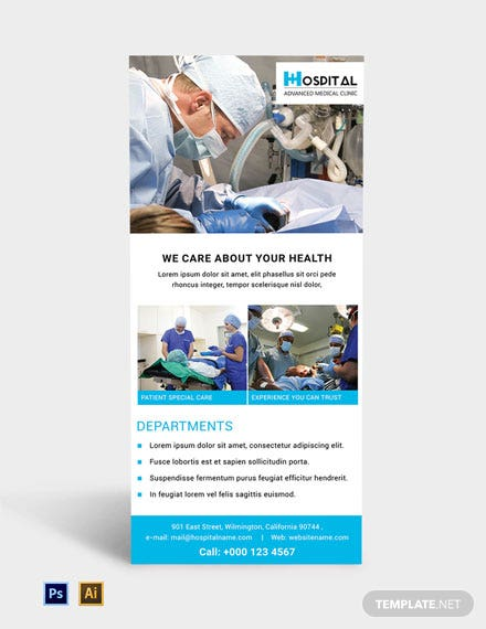 Free Hospital Rack Card Template
