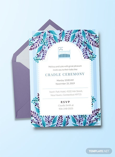 free baby invitation templates download ready made template net