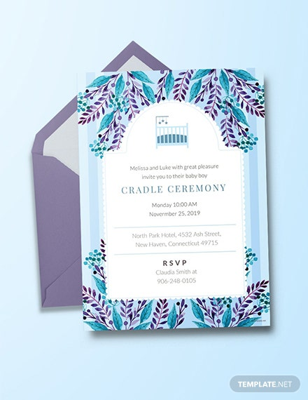 Free Cradle Ceremony Invitation Template
