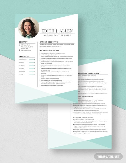 Accountant Trainee Resume  Download
