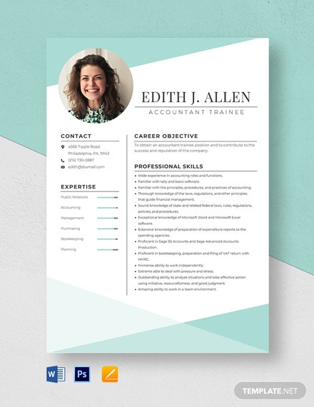 Accountant Trainee Resume Template