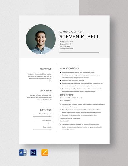 Commercial Officer Resume