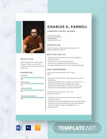 Commercial Project Manager Resume Template