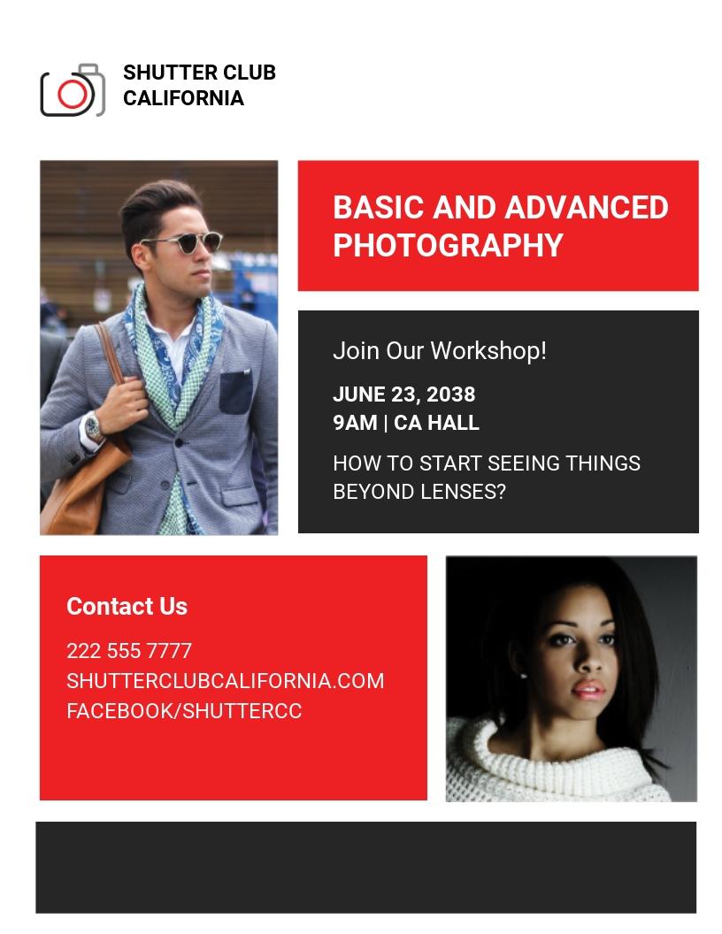 Creative Photographer Flyer Template