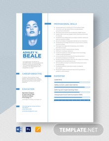 Commodities Trader Resume Template