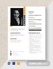 Commodity Specialist Resume Template