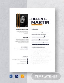 Commodity Trader Resume Template