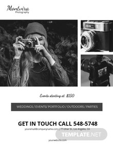 Free Event Photography Flyer Template