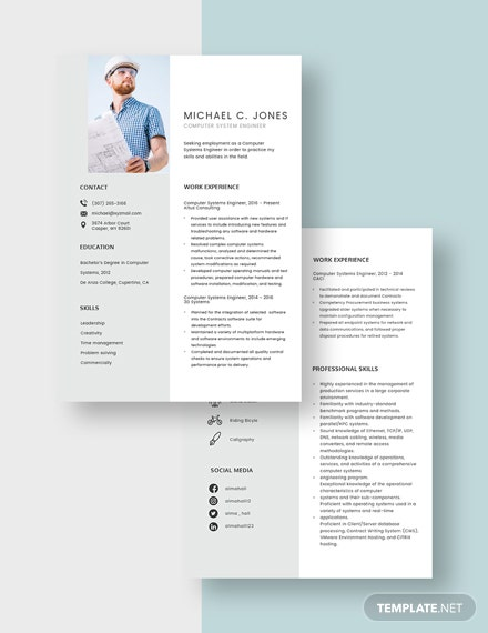 Computer Systems Engineer Resume Download