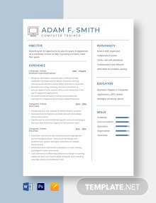 Computer Trainer Resume Template
