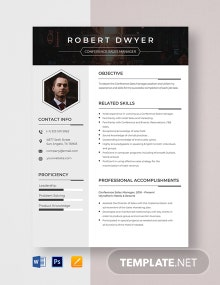 Conference Sales Manager Resume Template